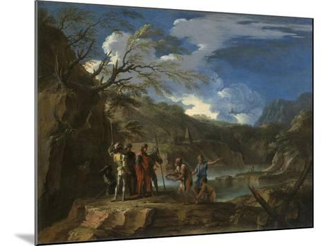 Polycrates and the Fisherman, C.1664-Salvator Rosa-Mounted Giclee Print