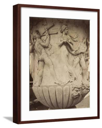 Detail of a Vase at Versailles, 1906-Eugene Atget-Framed Art Print