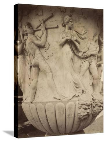 Detail of a Vase at Versailles, 1906-Eugene Atget-Stretched Canvas Print