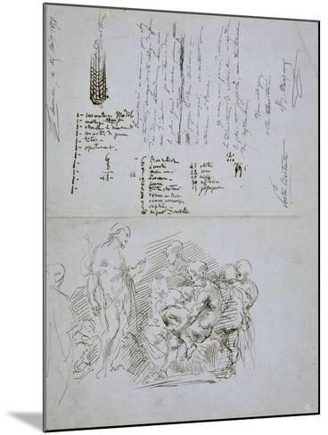 The Preaching of Saint John the Baptist, 1858-Jean-Baptiste Carpeaux-Mounted Giclee Print