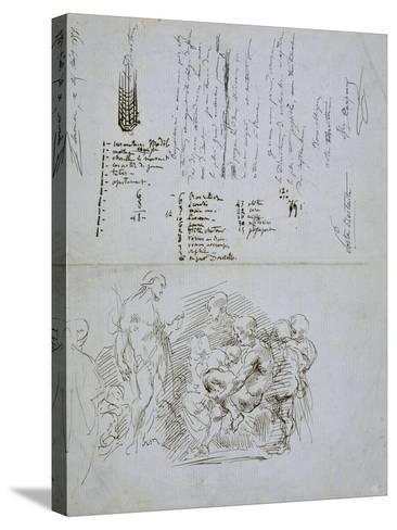 The Preaching of Saint John the Baptist, 1858-Jean-Baptiste Carpeaux-Stretched Canvas Print