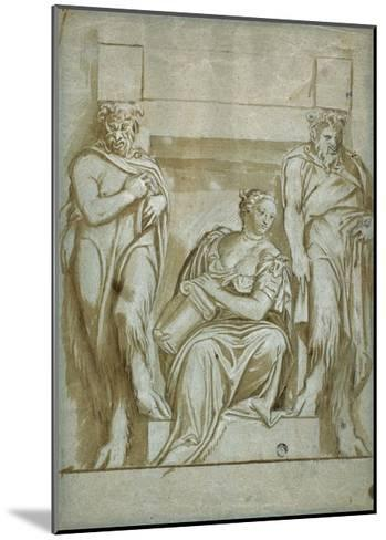 Fortitude (Or Strength) Flanked by Two Satyrs-Veronese-Mounted Giclee Print