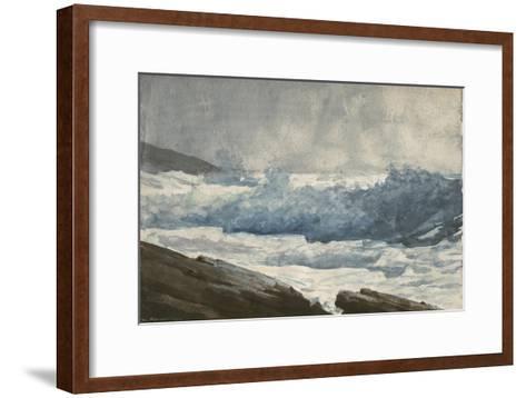 Prout's Neck, Breakers, 1883-Winslow Homer-Framed Art Print