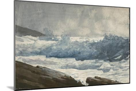 Prout's Neck, Breakers, 1883-Winslow Homer-Mounted Giclee Print