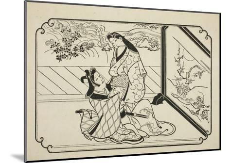 Behind the Screen, C.1673-81-Hishikawa Moronobu-Mounted Giclee Print
