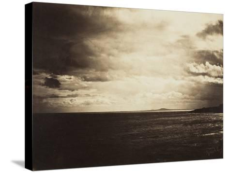 Cloudy Sky, Mediterranean Sea, 1857-Gustave Le Gray-Stretched Canvas Print