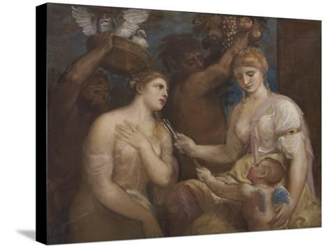 Allegory of Venus and Cupid, C.1600-Titian (Tiziano Vecelli)-Stretched Canvas Print