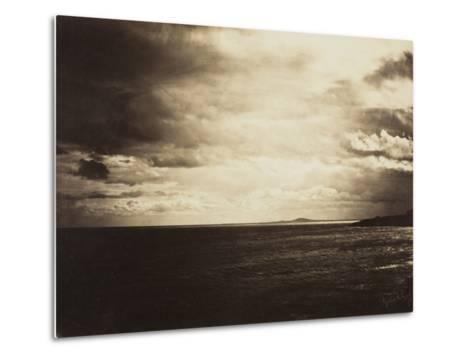 Cloudy Sky, Mediterranean Sea, 1857-Gustave Le Gray-Metal Print