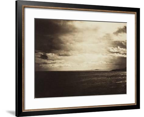 Cloudy Sky, Mediterranean Sea, 1857-Gustave Le Gray-Framed Art Print
