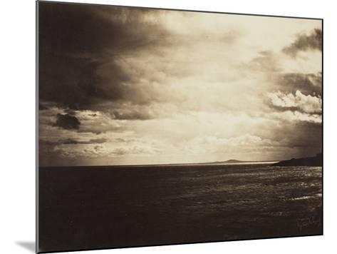 Cloudy Sky, Mediterranean Sea, 1857-Gustave Le Gray-Mounted Photographic Print