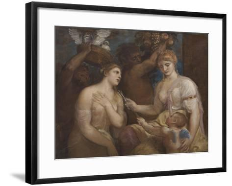 Allegory of Venus and Cupid, C.1600-Titian (Tiziano Vecelli)-Framed Art Print