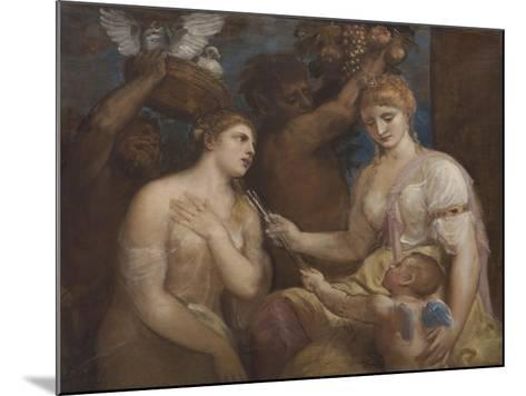 Allegory of Venus and Cupid, C.1600-Titian (Tiziano Vecelli)-Mounted Giclee Print