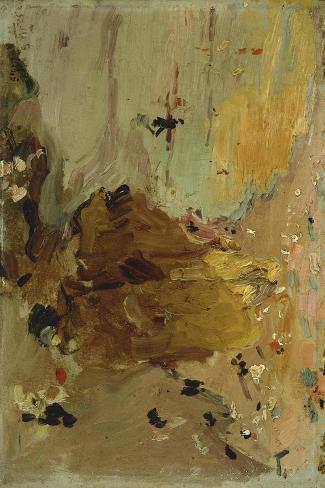 Sketch for Beach Scene, 1906-Joaquin Sorolla y Bastida-Stretched Canvas Print