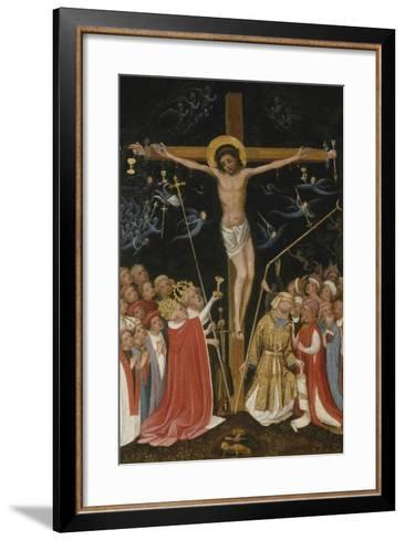 Christ on the Living Cross, 1420-30- Master of Saint Veronica-Framed Art Print