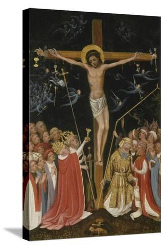 Christ on the Living Cross, 1420-30- Master of Saint Veronica-Stretched Canvas Print