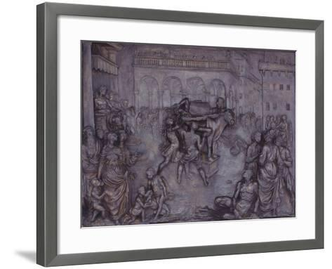 Phalaris and the Bull of Perillus, 1590-1600-Giovanni Battista Caccini-Framed Art Print