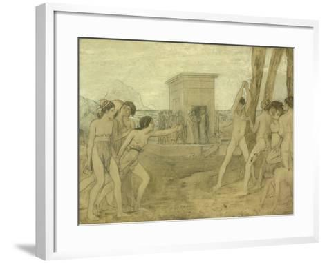 Young Spartan Girls Challenging Boys, C.1860-Edgar Degas-Framed Art Print