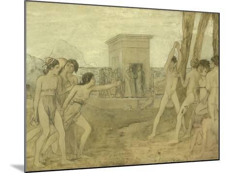 Young Spartan Girls Challenging Boys, C.1860-Edgar Degas-Mounted Giclee Print