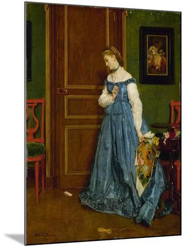 Hesitation, Possibly Madame Monteaux, C.1867-Alfred Emile Stevens-Mounted Giclee Print