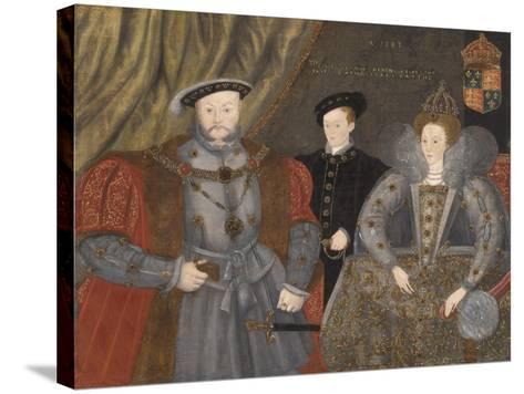 Henry Viii, Elizabeth I, and Edward Vi, 1597--Stretched Canvas Print