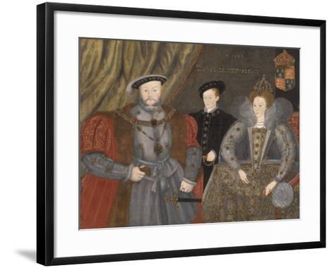 Henry Viii, Elizabeth I, and Edward Vi, 1597--Framed Art Print