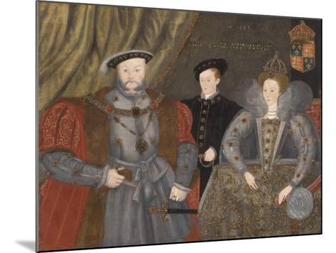 Henry Viii, Elizabeth I, and Edward Vi, 1597--Mounted Giclee Print