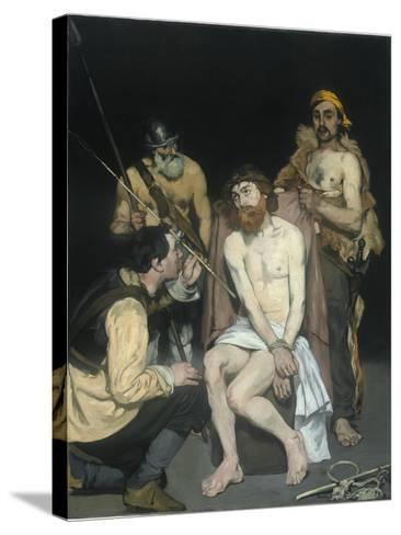 Jesus Mocked by the Soldiers, 1865-Edouard Manet-Stretched Canvas Print