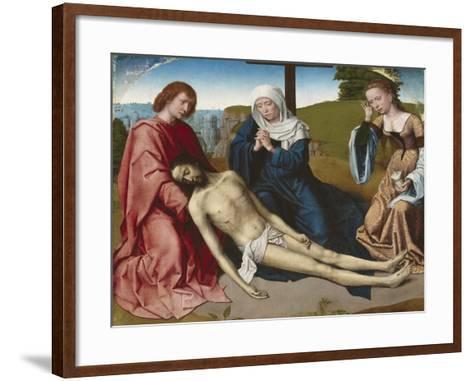 Lamentation over the Body of Christ, C.1500-Gerard David-Framed Art Print