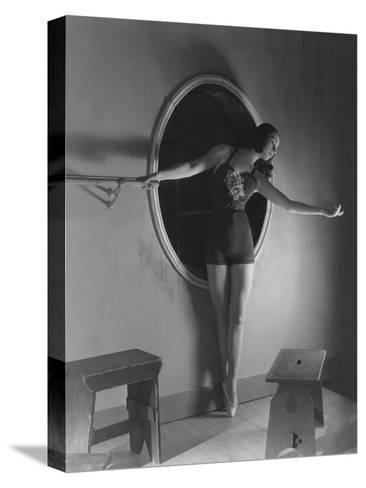 Vogue - December 1938-Horst P. Horst-Stretched Canvas Print