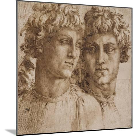 Two Studies of the Head of a Youth, C.1550-Baccio Bandinelli-Mounted Giclee Print