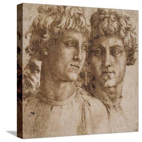 Two Studies of the Head of a Youth, C.1550-Baccio Bandinelli-Stretched Canvas Print