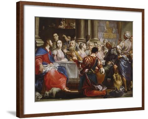 The Wedding at Cana, C.1686-Giuseppe Maria Crespi-Framed Art Print