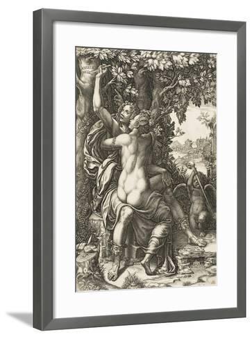 Angelica and Medoro, C.1570-Giorgio Ghisi-Framed Art Print