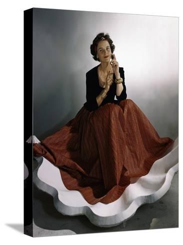 Vogue - August 1941-Horst P. Horst-Stretched Canvas Print