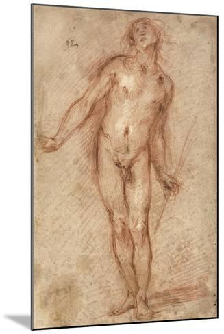 Standing Male Nude, 1637-38-Cecco Bravo-Mounted Giclee Print
