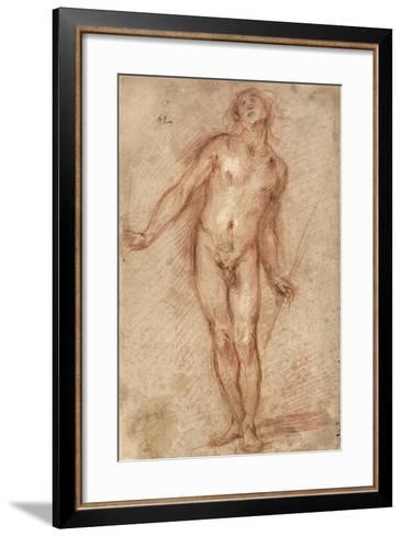 Standing Male Nude, 1637-38-Cecco Bravo-Framed Art Print