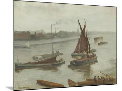 Grey and Silver: Old Battersea Reach, 1863-James Abbott McNeill Whistler-Mounted Giclee Print