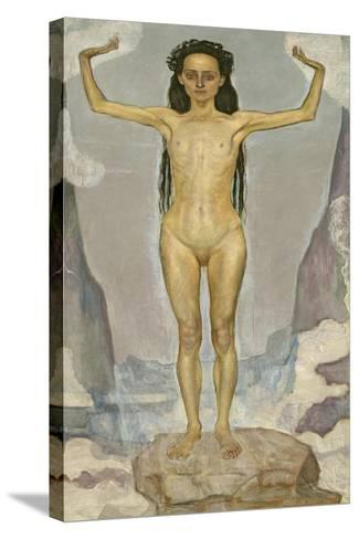 Day (Truth), 1896-98-Ferdinand Hodler-Stretched Canvas Print