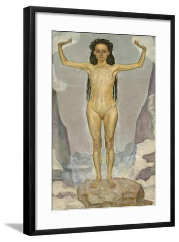 Day (Truth), 1896-98-Ferdinand Hodler-Framed Art Print