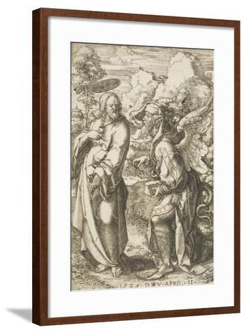 Christ Tempted by the Devil, 1525-Dirk Jacobsz Vellert-Framed Art Print