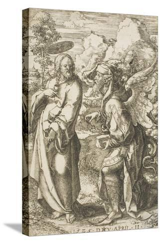 Christ Tempted by the Devil, 1525-Dirk Jacobsz Vellert-Stretched Canvas Print