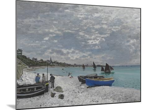 The Beach at Sainte-Adresse, 1867-Claude Monet-Mounted Giclee Print