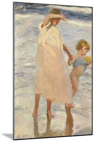 Two Sisters, Valencia, 1909-Joaquin Sorolla y Bastida-Mounted Giclee Print