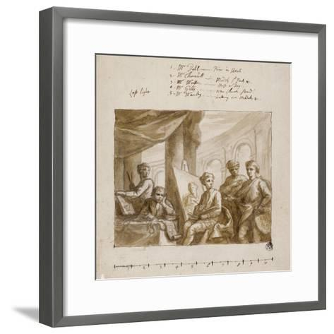 Company of Painters, C.1719--Framed Art Print