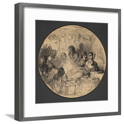 Scene from Bohemian Life, 1855-57-James Abbott McNeill Whistler-Framed Art Print