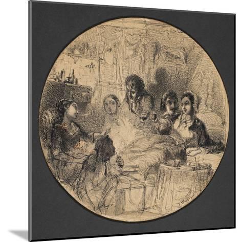 Scene from Bohemian Life, 1855-57-James Abbott McNeill Whistler-Mounted Giclee Print