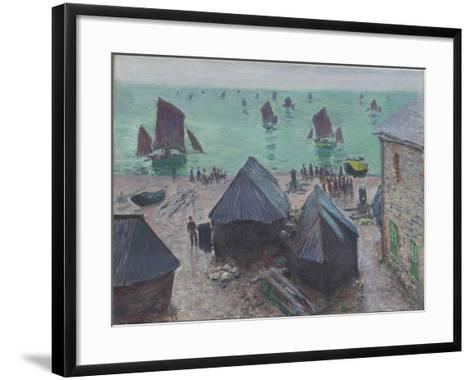 The Departure of the Boats, Étretat, 1885-Claude Monet-Framed Art Print