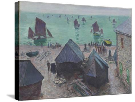 The Departure of the Boats, Étretat, 1885-Claude Monet-Stretched Canvas Print