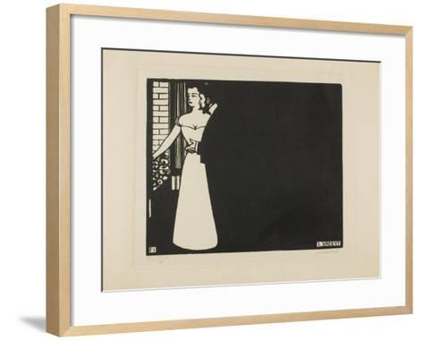 Money, Plate Five from 'Intimacies', 1898-Felix Edouard Vallotton-Framed Art Print