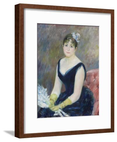 Madame L?on Clapisson, 1883-Pierre-Auguste Renoir-Framed Art Print